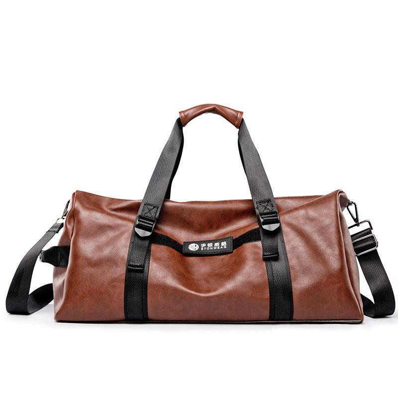 768dc576f57e 2019 Men S Travel Bags Gym Bag Leather Handbags Shoulder For Tourist  Waterproof Duffel Luggage Sports Tas Sac De Sport Travel XA395WA From  Gqinglang