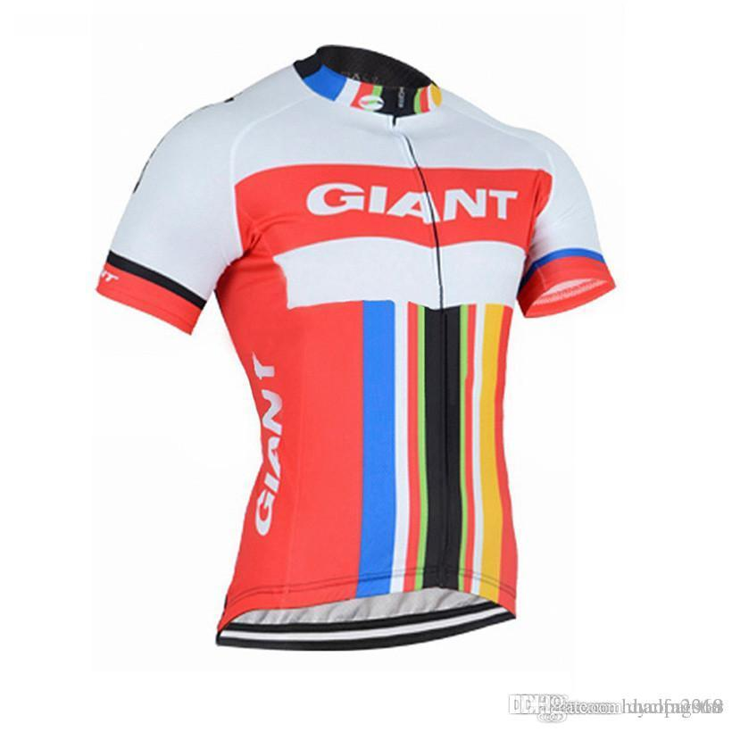 New Giant Team Men Cycling Clothing Bike Jersey Bicycle Short Sleeve ... 033fb7005