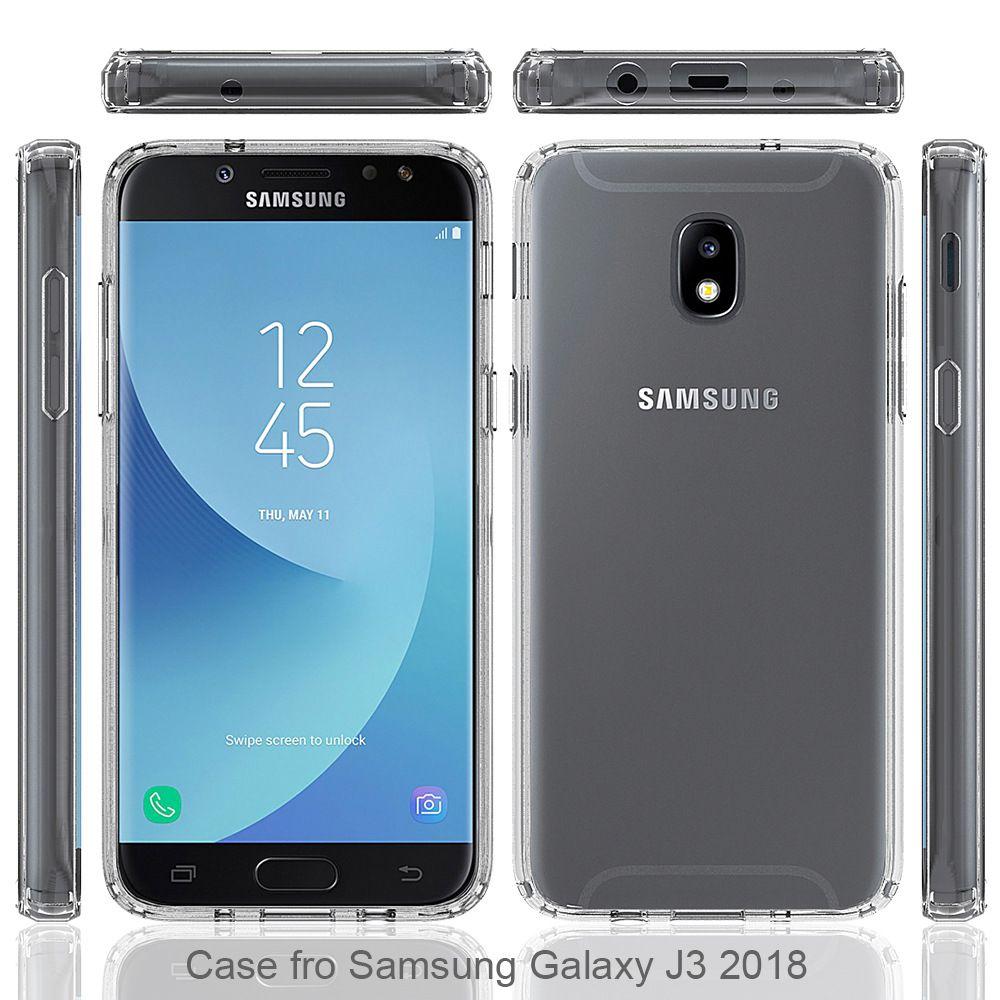 Para samsung galaxy j7 2018 j3 2018 j3 prime j7 prime 2017 claro acrílico  tpu pc anti-queda phone case oppbag