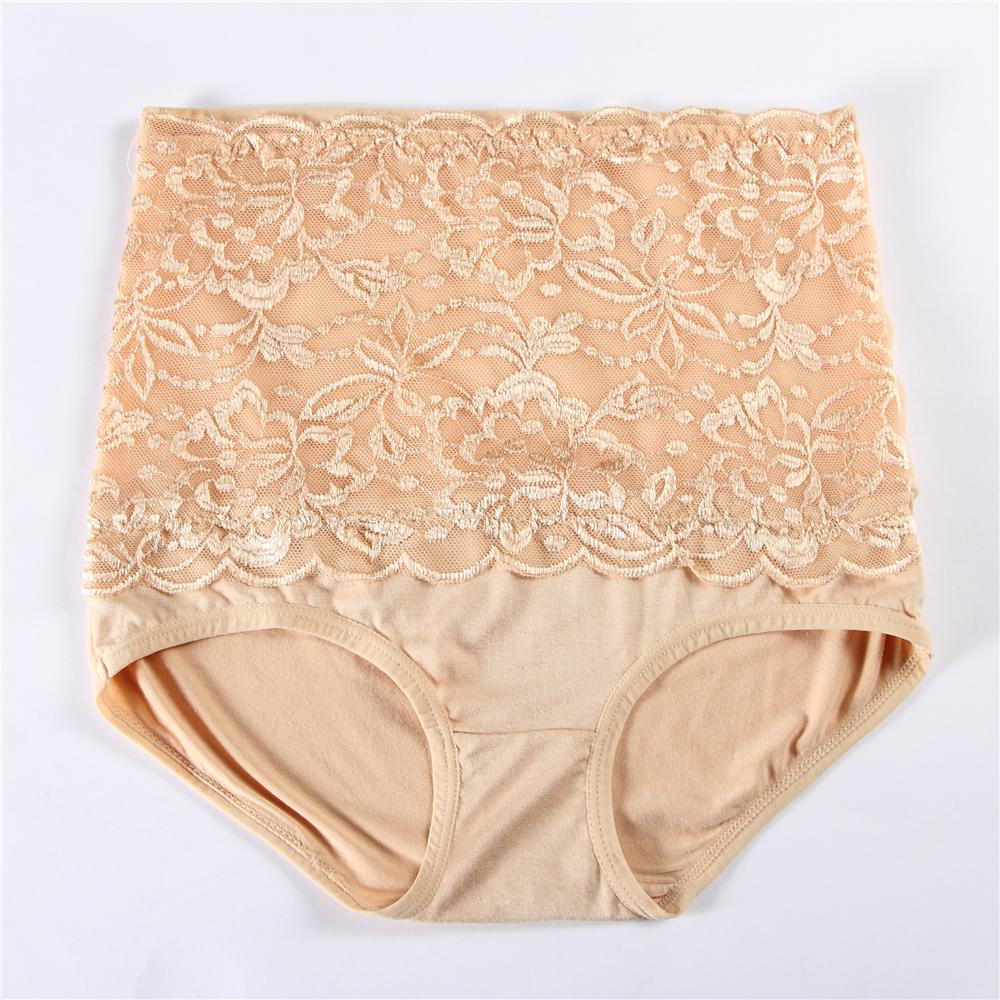 Women Intimates Sexy Panties Lace High Waist Underwear Ultra-thin Underpants Plus Size Panty Female Briefs P003