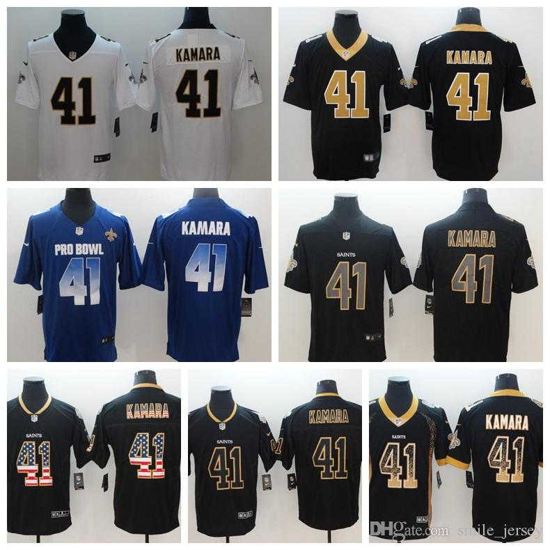 97f422a27ea 2019 Mens 41 Alvin Kamara New Orleans Jersey Saints Football Jersey  Stitched Embroidery Saints Alvin Kamara Color Rush Football Stitching Shirt  From ...