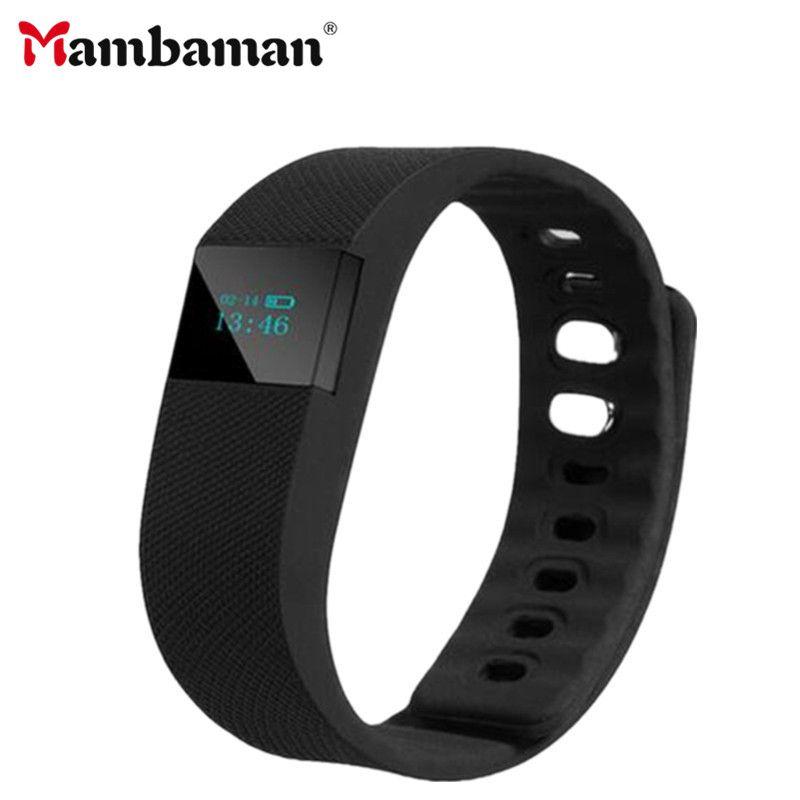 1b26150646ae Mambaman TW64 Fitness Tracker Bluetooth Smartband pulsera deportiva Smart  Band pulsera podómetro para iPhone IOS Android PK Fitbit