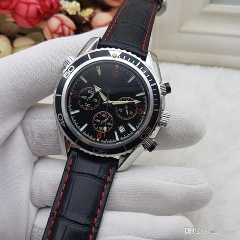 2018 All Subdials Lavoro AAA Mens donna In Acciaio Inox Da Polso Al Quarzo Cronometro Orologio di Lusso Top Marca relogies gli uomini relojes