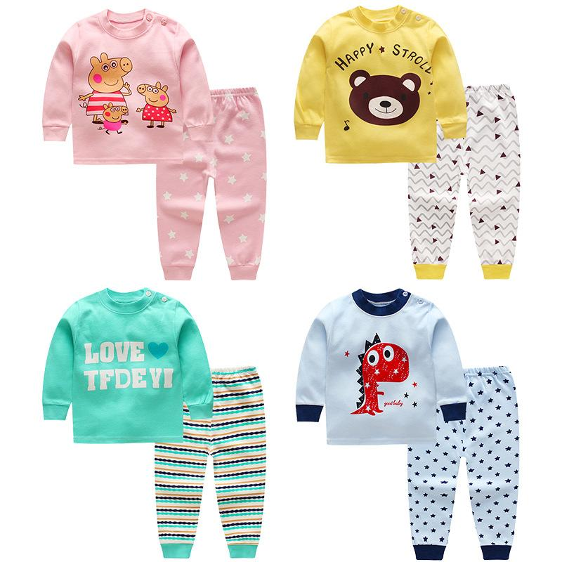 26680e2f4 2019 Baby Boys And Girls Clothes Set Baby Girls Pyjamas Clothes ...