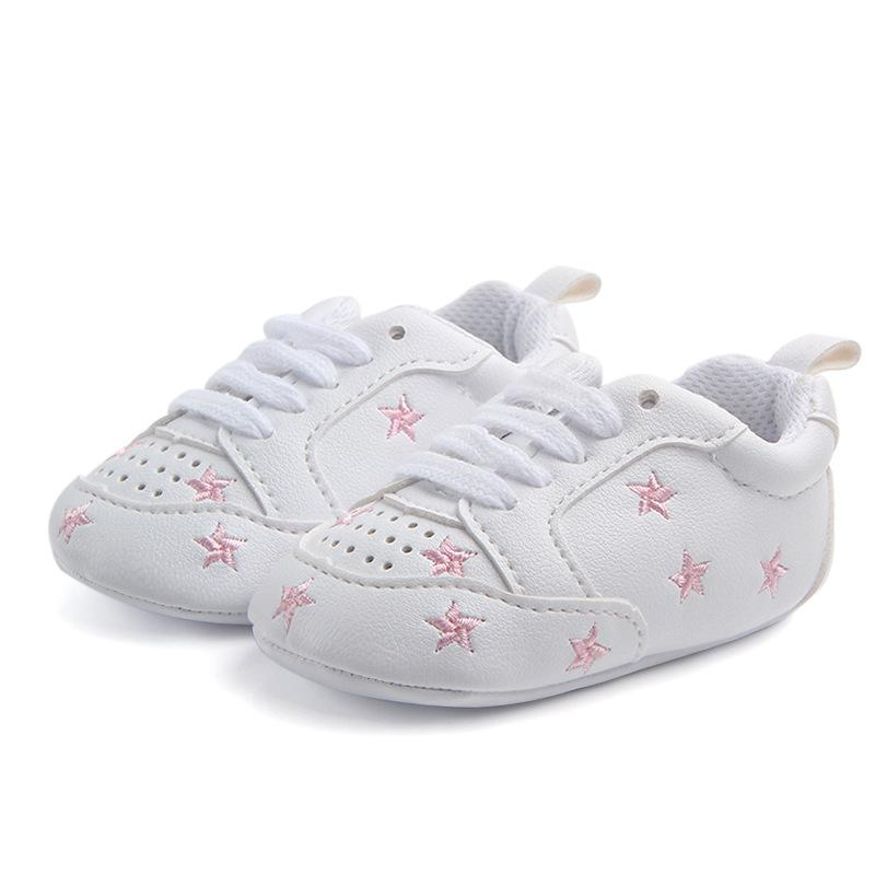 566dd6b1d2b4 2019 PU Leather Baby Boy Girl Shoes Cotton Soft Sole Baby Moccasins 0 12M  Newborn Shoes White Star Infant First Walkers F29 From Jeanyme