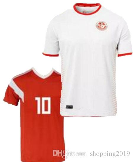 a7e14056e 2018 World Cup Tunisia Socce Jerseys National Football Team Home Red ...