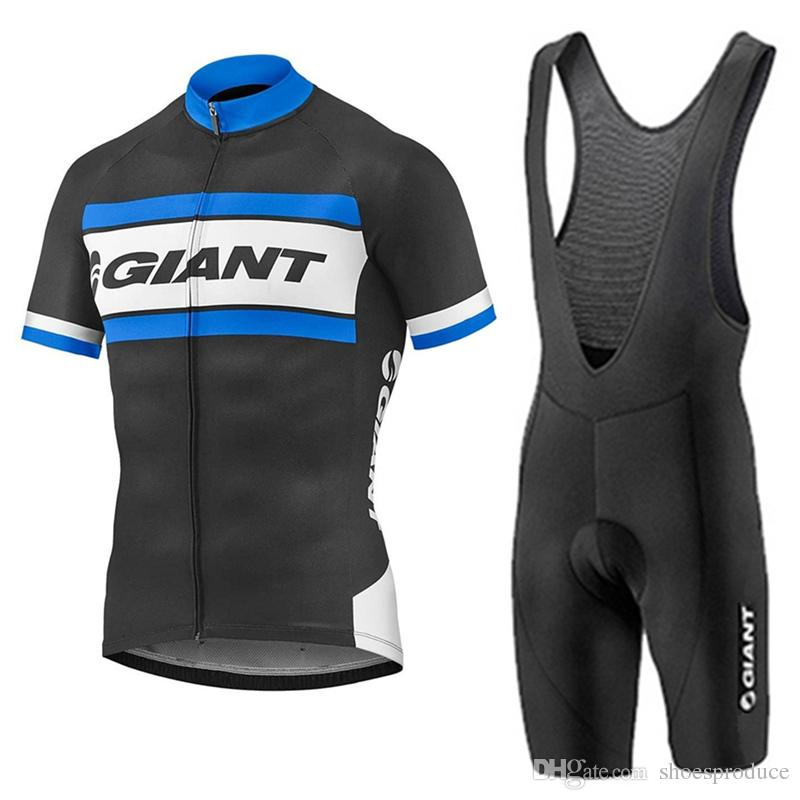 New Giant Cycling Jersey Bib Set Summer Short Sleeve Men MTB Cycling ... 051841f44