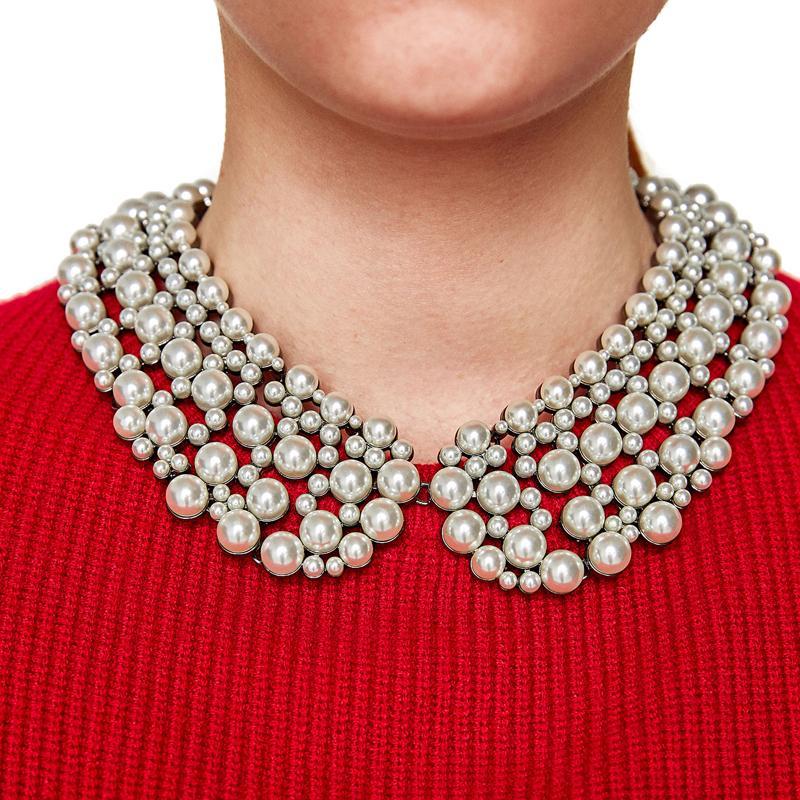 4033e7f6bfb1 Compre Venta Al Por Mayor es Collar De Estilo Collar De Gargantilla Collar  Babero Declaración Simulado Collar De Perlas Para Las Mujeres Precio De  Fábrica ...