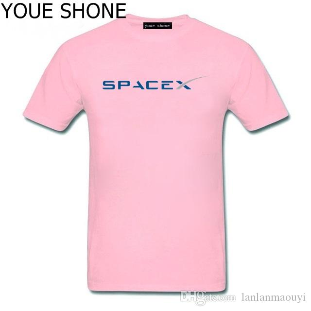 Men S T Shirt Popular Custom Short Sleeve Boyfriend Plus Tshirt Simple  Style Tee Shirt SpaceX T Shirts Men Space X Logo Men S Tees Crazy T Shirt  Sayings Tee ... ee5229454bba