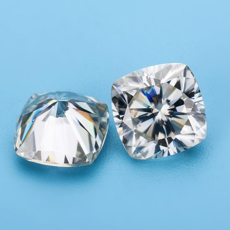Test Positive Gh Color 7 5 7 5mm Cushion Brilliant Cut Moissanites Loose Gems Stones For Jewelry Making
