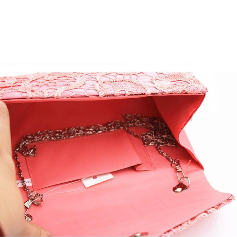Shoubang Elegant Designer Women Envelope Clutches Flap Pochette Soiree Lace Crochet Handbag Fashion Evening Bags Party Wallets