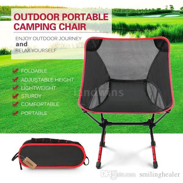 Fine 2018 New Portable Fashion Adjustable High Altitude Light Folding Chair Outdoor Camping Beach Chair Outdoor Chair Fishing Chair Ibusinesslaw Wood Chair Design Ideas Ibusinesslaworg