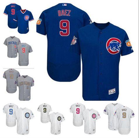 086858ae8 2019 Men Women Youth Majestic Custom Cubs Jersey #9 Javier Baez Home Blue Grey  White Glod Kids Girls Boys Champions Baseball Jerseys From Tenplus, ...