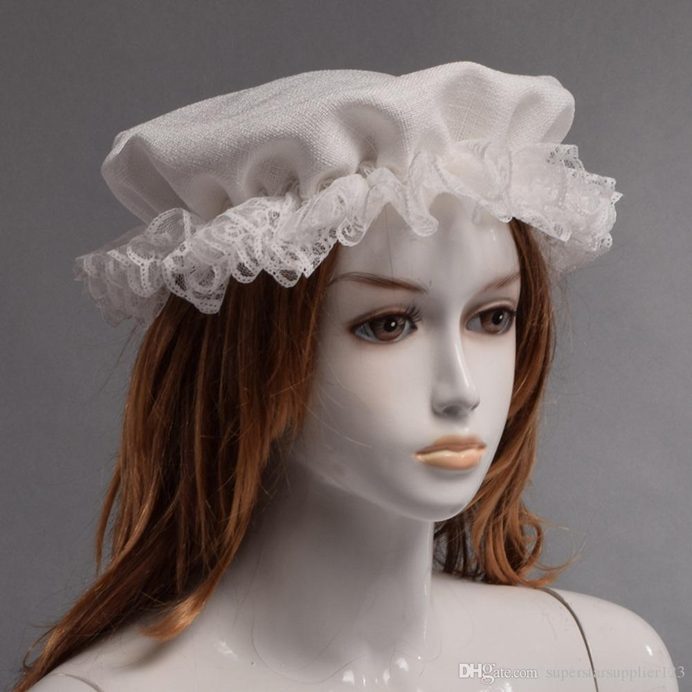 Women Kangaroo's Victorian Mother Beanie Lady White Vintage Retro Cap Colonial Mob Hat Fast Shipment
