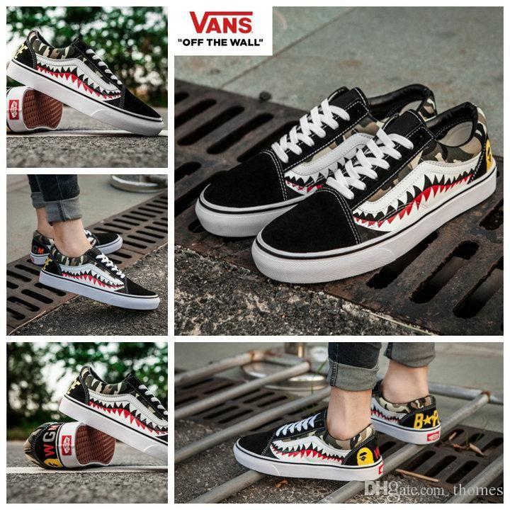 0e4ccfe3b6393c 2019 New Zapatillas De Deporte Old Skool Sharktooth Custom Sneakers ...