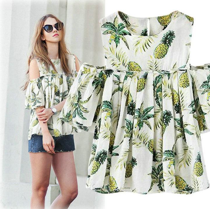 8bcbc11894a XL-5XL Plus Size Shirt Strapless Short Sleeve Ruffles Women s Tops ...