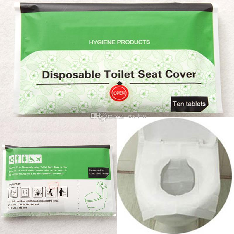 Disposable Toilet Seat Cover Travel Hotel Toilet Seat Covers Camping ...
