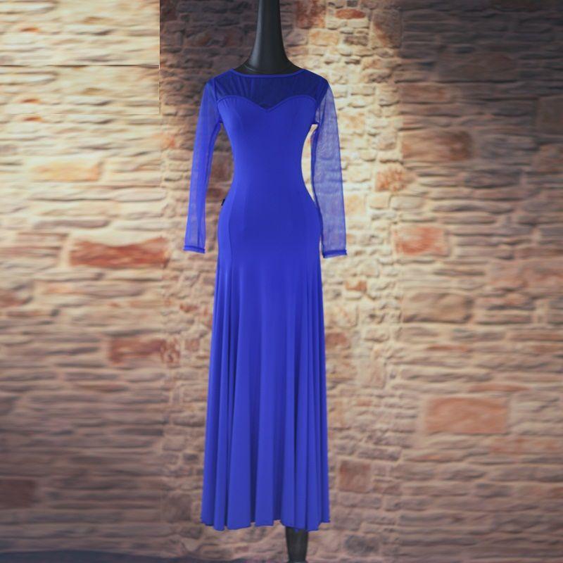 5934da9938 Compre 4 Cores New Standard Ballroom Dance Dress Mulheres Long Sleeve Valsa    Tango   Jazz Dance Dress Preto   Roxo   Azul Desempenho   Prática De  Ritalei