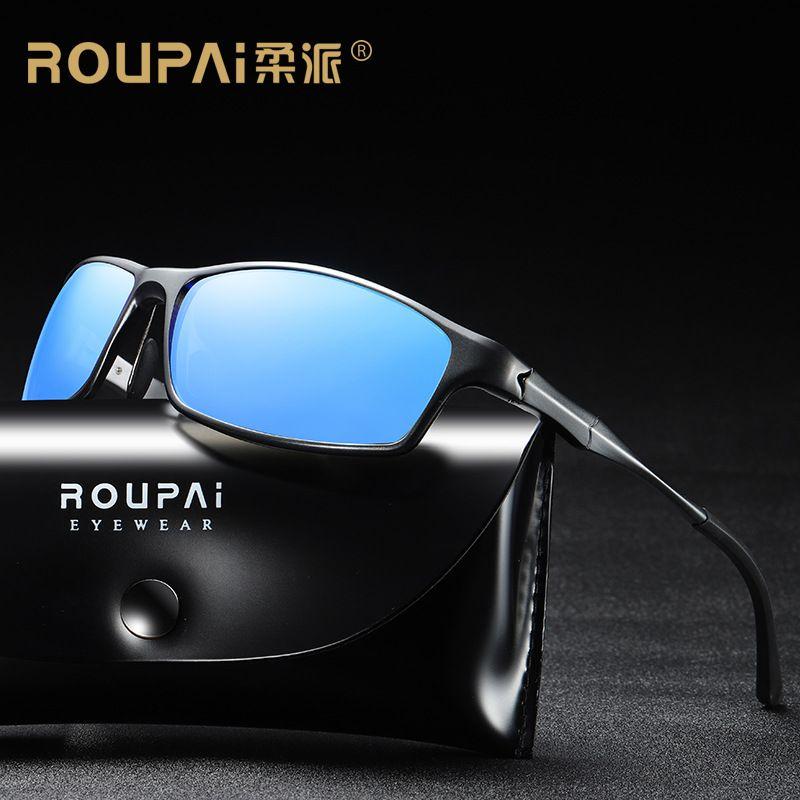 84b9f732cbb92 Brand Classic Polarized Sunglasses Men Driving Aluminum And ...