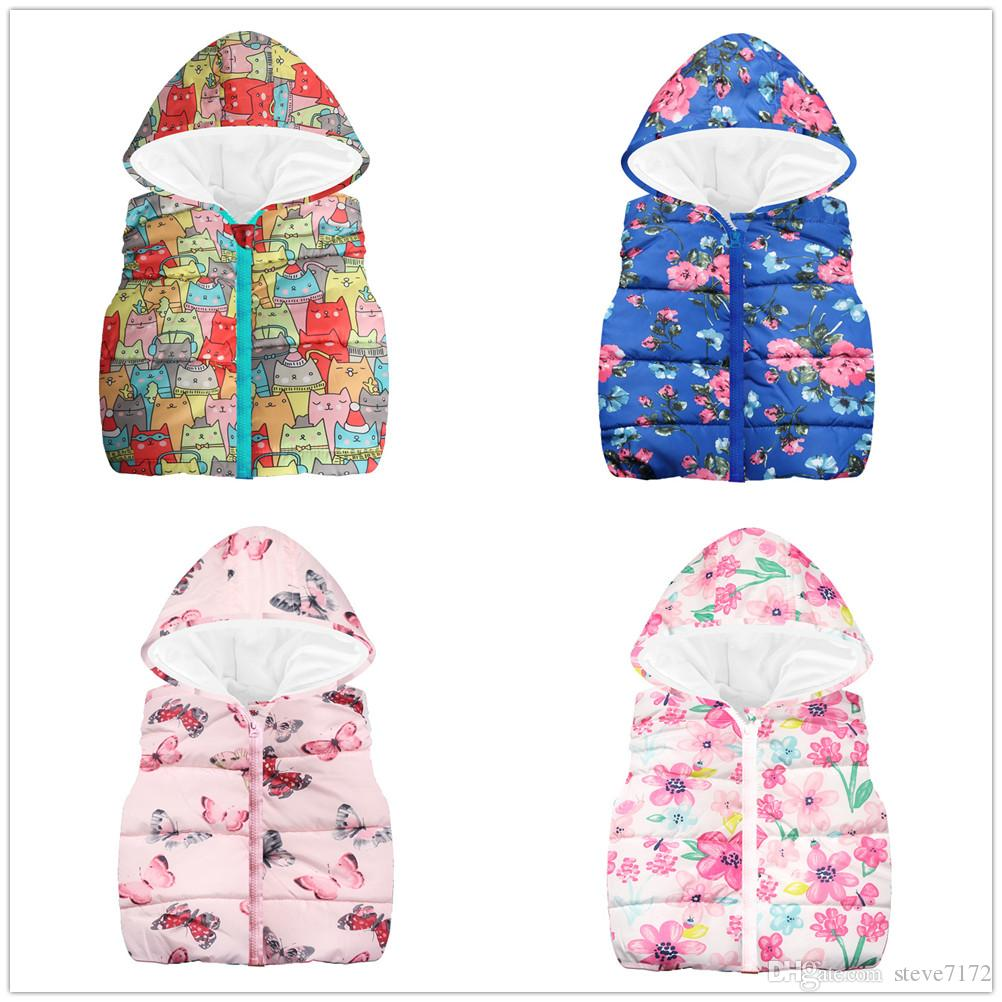 c17733055f98 Baby Girls Waistcoat Fleece Winter Children Clothes Outfits Fashion ...