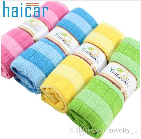 Haicar Top Grand Efficient Anti-grease Color Dish Cloth Bamboo Fiber Washing Towel Magic Kitchen Cleaning Wiping Rags Gifts