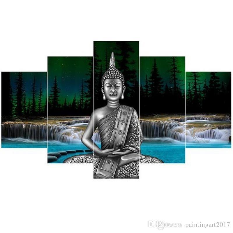 Chine Bambou Thai Statue De Bouddha Toile Mur Peinture Art Moderne Décoration HD Imprimé Mur Art Photo Peinture