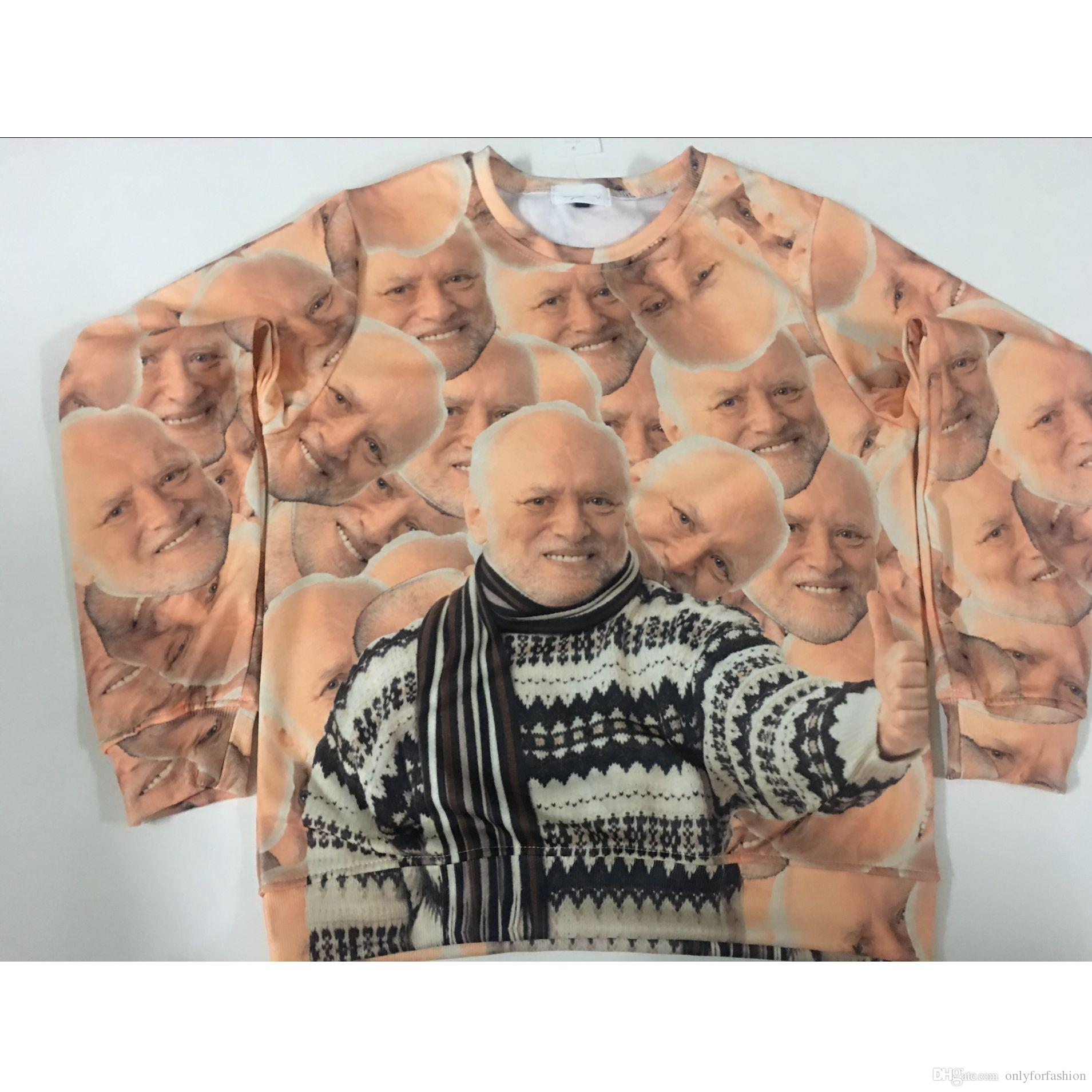 2994c09d6 2019 Real USA Size Hide The Pain Harold Collage 3D Sublimation Printing  Sweatshirt Crewneck Plus Size 3XL 4XL 5XL 6XL From Onlyforfashion, $24.22 |  DHgate.