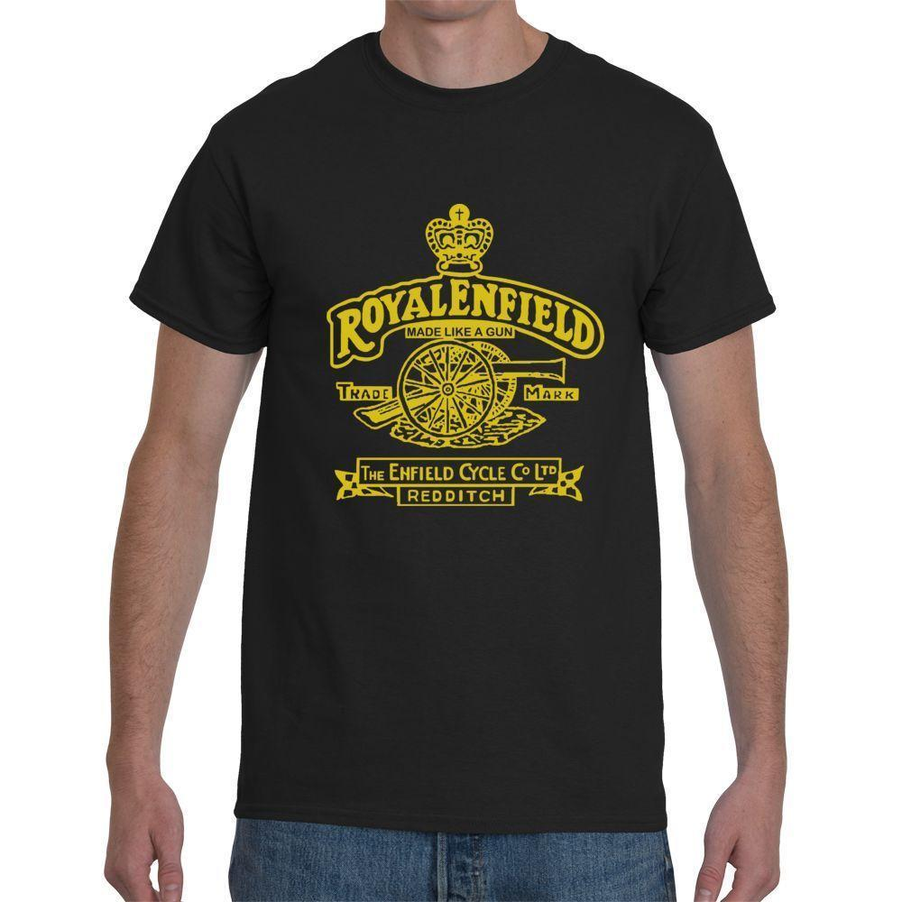 Grosshandel Royal Enfield Retro Motorrader Vintage Biker Kurzarm