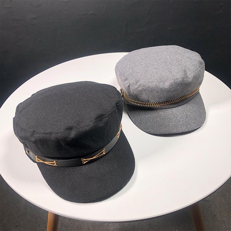 Factory sells directly Cool style zipper beret hats unisex women men winter  berets warm beanie cap fashion hats women hot sale