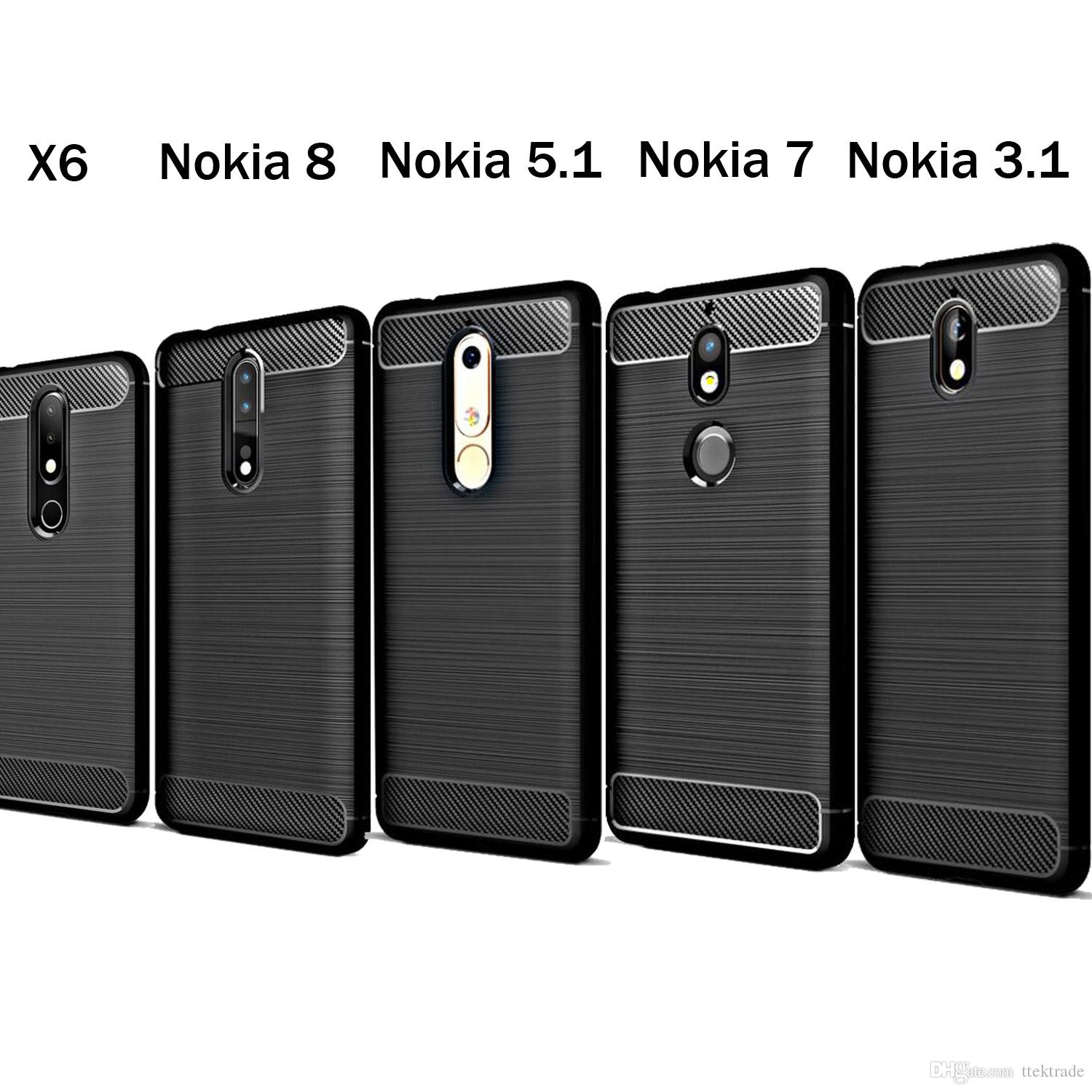 hot sale online 6893e e2bf3 Case For Nokia 5 2 3 6 Carbon Fiber Soft TPU Heavy ShockProof Cover Full  Protector Fitted Conque For Nokia 6 Nokia 3.1 5.1 2.1 Case Housing