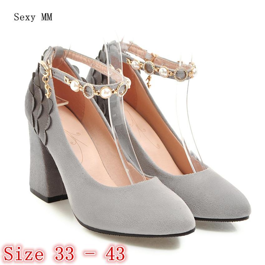 ad061c3ca9 Compre Sapatos De Salto Alto Mulheres Bombas De Salto Alto Sapatos Stiletto Mulher  Sapatos De Festa De Casamento Senhoras Saltos Gatinho Scarpin Plus Size ...