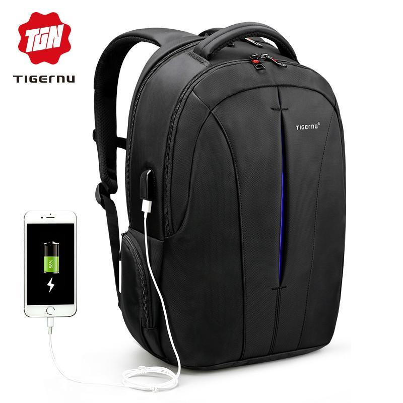 932d75a7fb2b1 Tigernu Klassischen Stil Herren Nylon Rucksack Student School Backpack  Taschen Wasserdichte 15