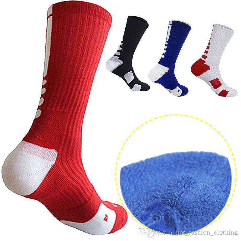 88a94de0e96 New USA Professional Elite Basketball Socks Long Knee Athletic Outdoor  Sports Soccer Sock Men Fashion Compression Thermal Winter Socks Elite  Basketball ...
