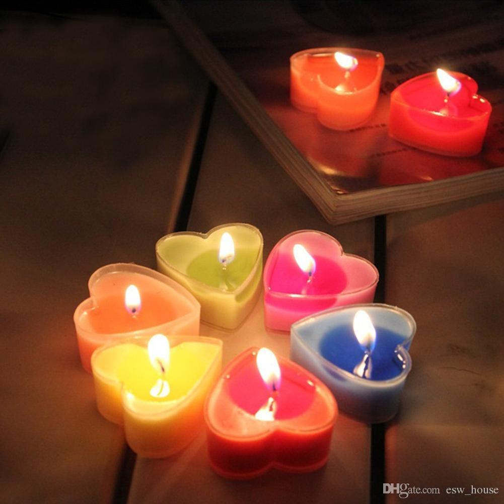 Mariage Cire En Forme Livraison Coeur Paraffine Décoration Cadeau Parfumées Bougies Romantique De Valentin Saint K1lT3FJc