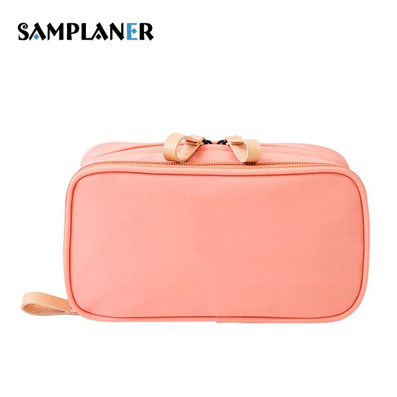 4e7ed9ac3b3 Samplaner Women Cosmetic Bag Double Zipper Toiletry Bags Brush Tool Storage  Pouch Beauty Makeup Cases For Cosmetics Organizer Makeup Sales Online  Makeup ...