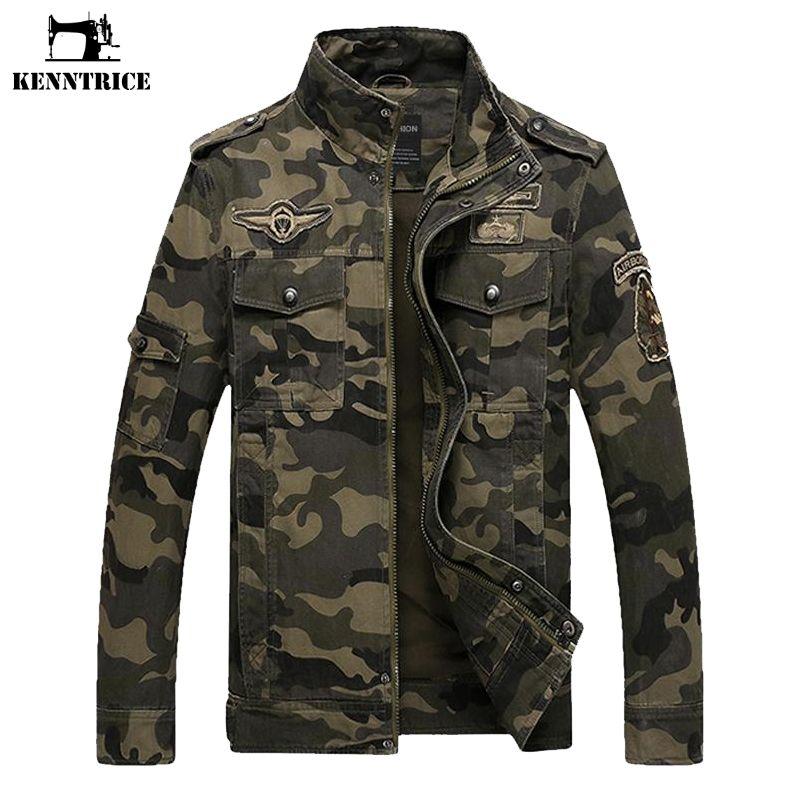 b795eff94 Chaqueta táctica militar Estilo Militar Ropa Jeans Hombre Soldado Camo  Chaqueta Hombres Ejército de los EE. UU. Chaqueta de camuflaje Abrigos