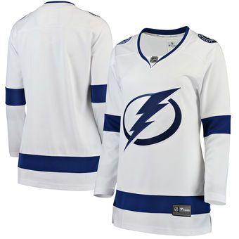2018 2018 Nhl Hockey Jerseys Cheap Custom Women S Tampa Bay Lightning  Fanatics Branded White Away Breakaway Jersey Store Usa Sports Jersey Blank  From ... efb1bf5ebd