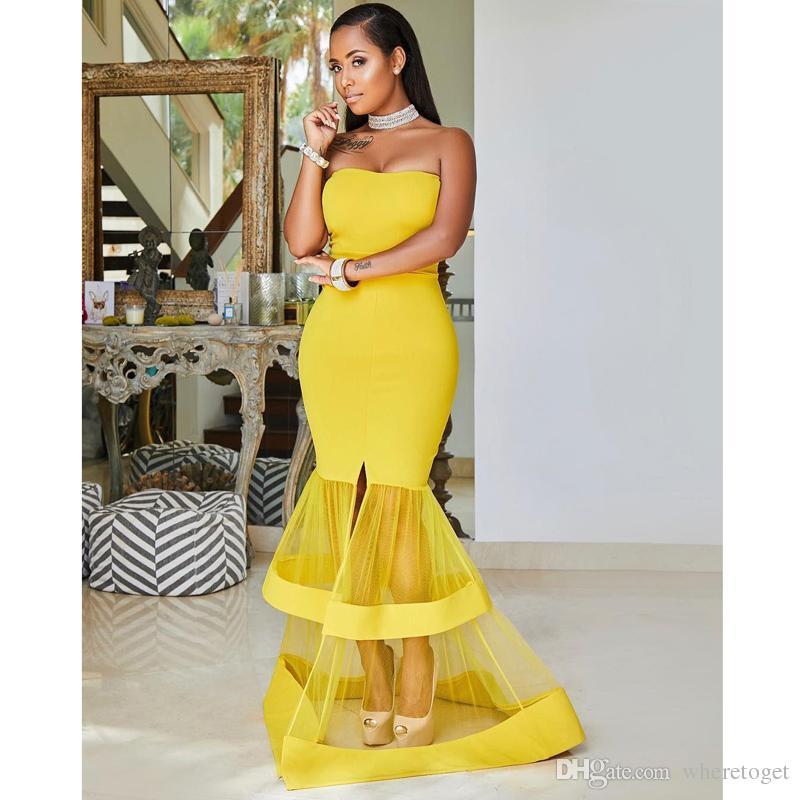 2019 Plus Size Bright Color Prom Dresses Dark Skin Fat