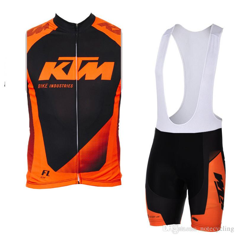 KTM team Cycling Short Sleeves jersey bib shorts Sleeveless Vest sets summer mountain Slim fit bike sweatshirt free delivery 60604