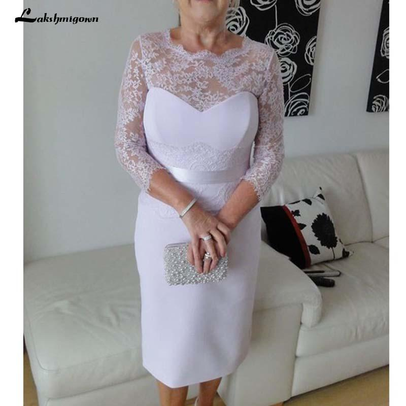 b77e784b926 Lace Long Sleeve Mother Of The Bride Dresses Sheath Satin Skirt Short  Wedding Party Dress For Women Veatidos De Madrina Yellow Mother Of The  Bride Dresses ...