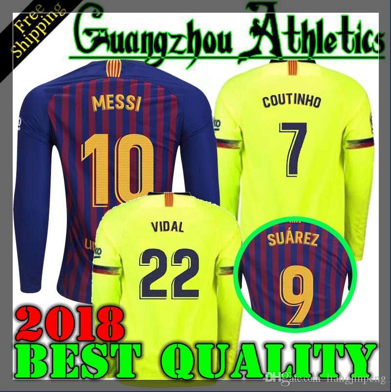 540d4f01a ... new zealand wholesale stylish and cheap best use 2018 2019 new barcelona  long sleeve jersey suarez