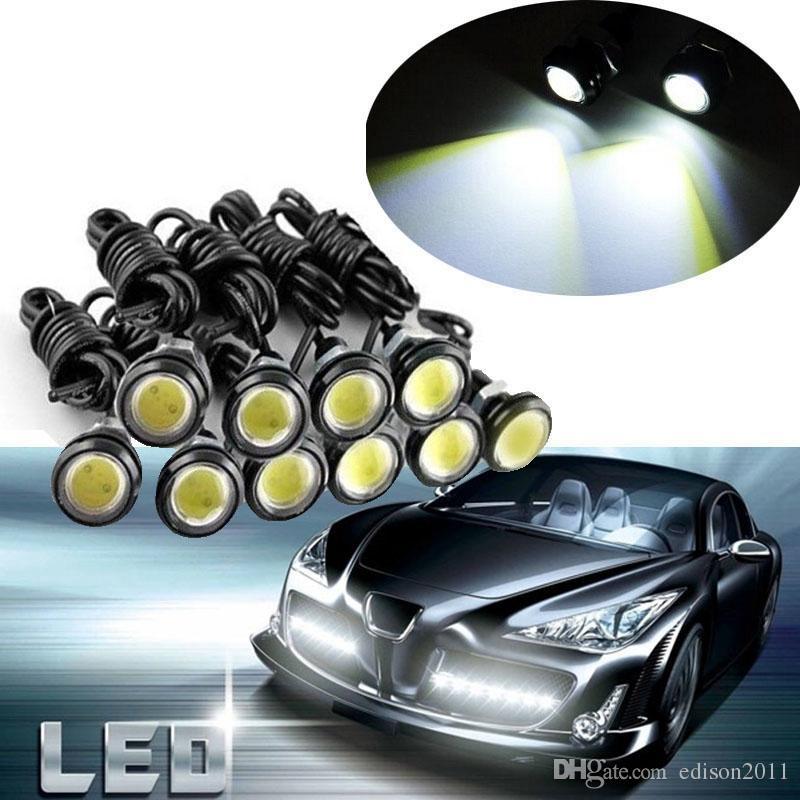 Edison2011 10 х 9 Вт 18 мм 12 в белый светодиодный Орлиный глаз задний фонарь автомобиля туман DRL дневное время обратный резервный сигнал парковки