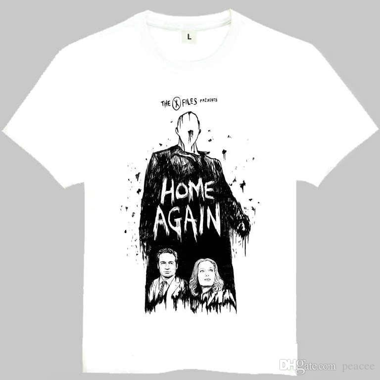 The X Files T Shirt Fox Mulder Short Sleeve Gown Home Again Tees ...