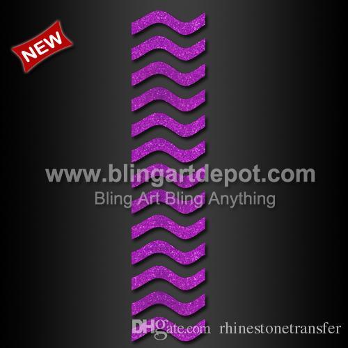 Hot Fix Glitter Vinyl Cheer Bow Strip Transfer For Bows Custom Design  Available