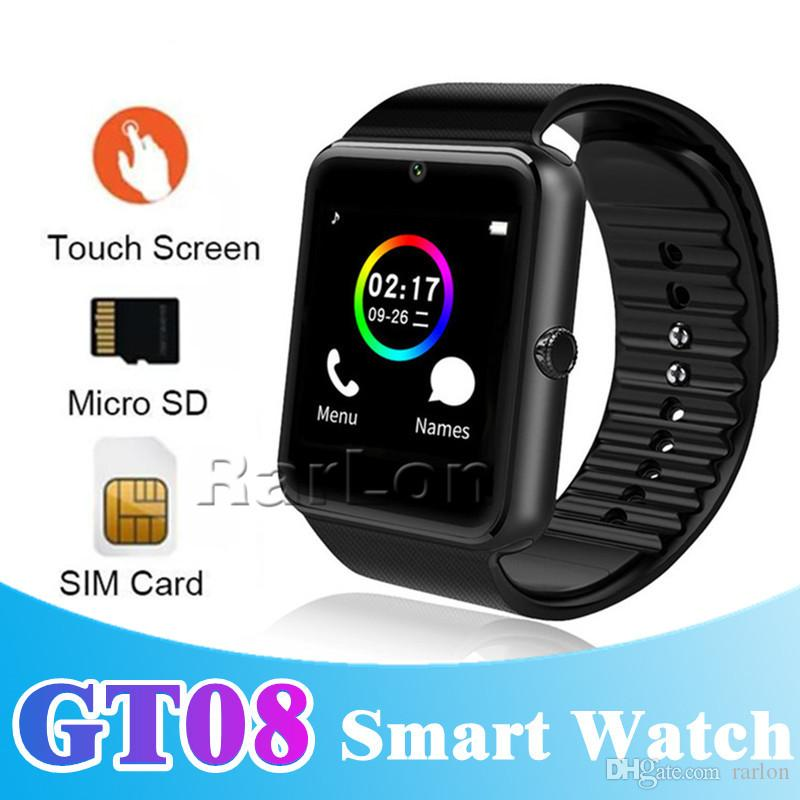 60652baa15a GT08 Bluetooth Smart Watch With SIM Card Slot And NFC Health Watchs For  Android Samsung And IOS Apple Iphone Smartphone Bracelet Smartwatch Phone  Smart ...