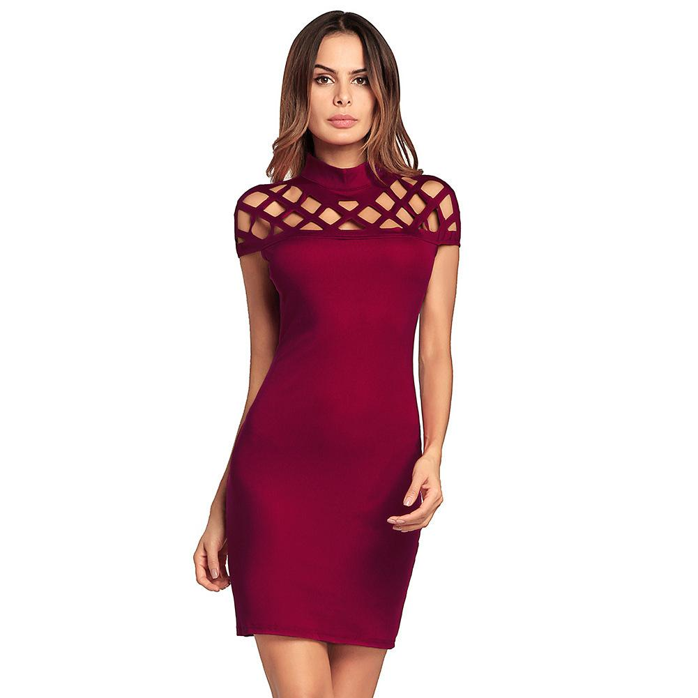 3a21da77aee 2018 Spring Europe Station New Pattern Short Sleeve Sexy Package Hip Skirt Dress  Fashions Woman Clothing Ladies Casual Dresses For Women Cocktail Dress ...