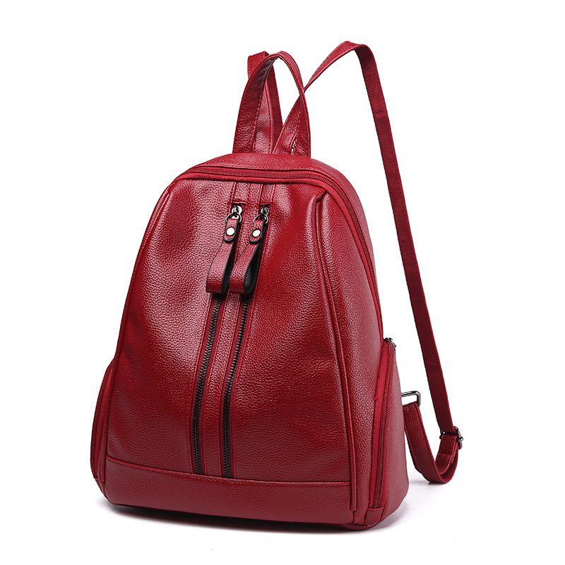 a1a9ec0e7e Big Soft Leather Bag Women Bag Ladies Shoulder Bags For Women To Shoulder A  Big Sac Core Backpack Female Female Dakine Backpacks Back Pack From  Vanilla13