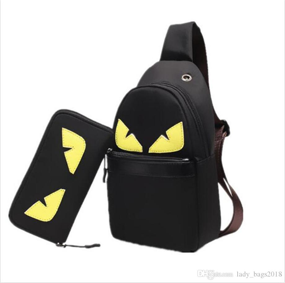 Hot Sell SELLERIA PEEKABOO Monster Handbags Luxury Chest Bag Sling Bag  Fashion Men Woman Designer Oxford Cloth Shoulder Backpack Bags Briefcase  Leather ... 15c0422f29645