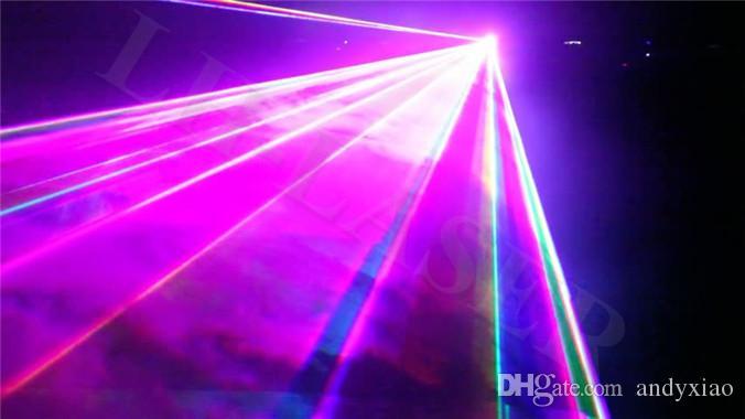 Ilda DMX 512 3000MW Modulazione analogica ANALLOGA Full Color RGB Lighting Lighting Animazione SD Scheda Discoperta Luci laser