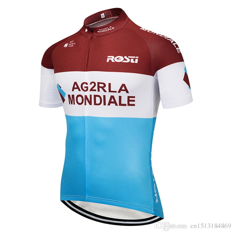 86884903c52 Tour De France 2018 Pro Team Ag2r Short Sleeve Cycling Jersey Ropa ...